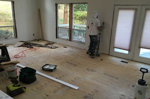 Plywood Floor Installation